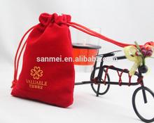 wholesale custom 2 x 2 1/2 inch velvet jewellery bag