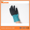 Double coated industrial latex rubber hand gloves frosted