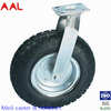 Heavy Duty Cast Iron Corn Double Ball Bearing Rubber 4 inch Pneumatic Wheel