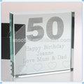 baratos impressão de vidro presentes de aniversário para 50th lembranças de aniversário