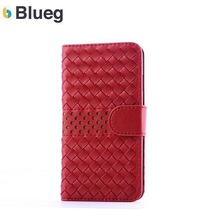 2014 New Design Machine-knitted pu leather case for iphone 6g,wallet cover for apple phone