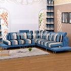 stripe patterned royal blue fabric corne
