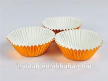 Orange aluminium foil baking muffin cups cake