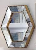 distressed antique bevel border mirror