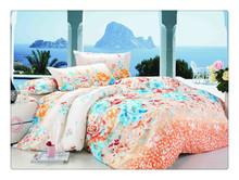 Floral design 115-120GSM microfiber reactive printed bed sheet brands