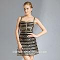impreso de oro vendaje elegante vestido de niña ropa de fiesta vestido de occidental