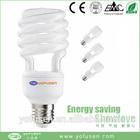 2014 CE EMC RoHS approved E27 B22 cfl spiral light energy saving lamp fluorescent lighting fixture