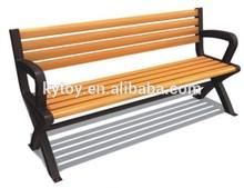 wooden slat iron cast garden bench chair