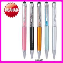 2014 hot sale promotional pen with crystalpen, custom logo crystal pen