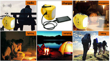 led camping light with solar panel