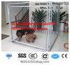 large dog run chain link animal cage