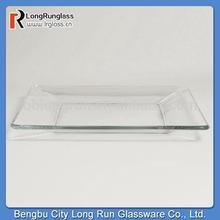 """LongRun 10""""Sq. Tempo Square Dinner Glass Plates Special Kitchen Glassware"""
