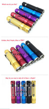 JEXREE 3W 300LM 1xCREE XPE LED Lamp 3 Modes rechargeable led mini flashlight with strobe