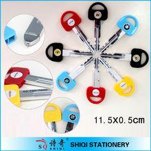 car key shaped short ballpoint pen