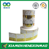 Vinyl Waterproof Sticker Labels Gold Foil Stamping /adhesive sticker printing /custom sticker/paper sticker