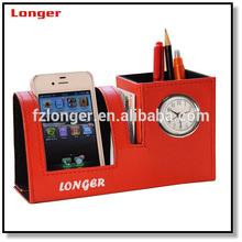 PU/ PVC business card holder and pen gift set LG-B042B