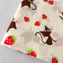T/C print fabric,cat printed kindergarten bed sheet fabric