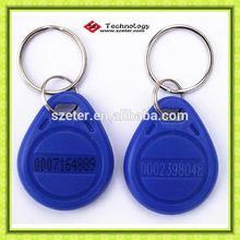 125khz RFID Keychain keytag blue color