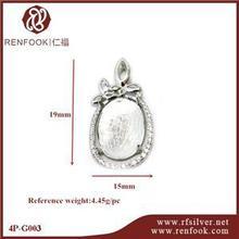 RenFook factory direct sale 925 sterling silver woman wanted precious jade pendants