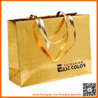 customized gold foil paper paper bag with logo print