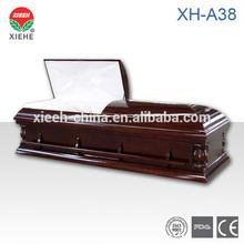 Pine Casket Coffin Box Casket XH-A38