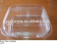 disposable plastic food grade transparent salad food container
