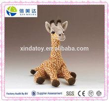 Plush standing giraffe/OEM plush animals