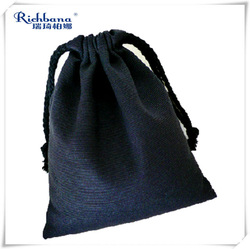 Natural Organic cotton drawstring bag Wholesale China Factory for gift