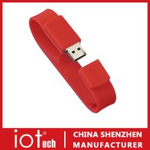 Custom Logo Prined Bracelet Gift USB Flash Memory