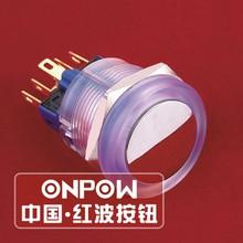 ONPOW 22mm Ring circle illuminated push button switch(GQ22-11E/B/12V/PC) (Dia. 22mm)(CE,CCC,ROHS,REECH)