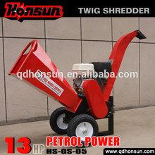 13HP Honda motor garden tool large mobile hot sale best palm wood chipper