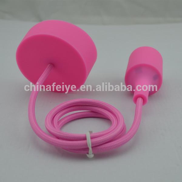 Soffitto silicone rosa/in tessuto colorato del cavo/silicone lampada a ...