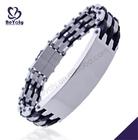 Christmas gift 316L stainless steel tibetan bracelet wood