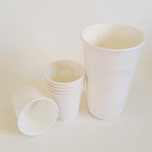 4oz-24oz customized single wall plain white paper cups