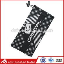 Soft microfiber cloth pouch /sunglasses bag/sunglass case,wholesale microfiber sunglasses bag with drawstring