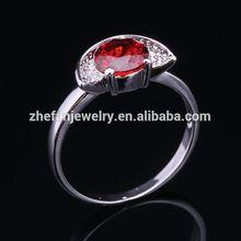 top quality ZF jewelry fashion rose cut diamond ring jewelry wedding pave setting