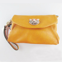 soft women clutch evening bag tiger skull wallet for laides