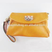 soft women clutch evening bag tiger skull wallet for laides