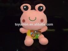 factory cheap sale custom animal toys stuffy soft plush pink frog toys