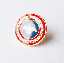 custom soft enamel epoxy metal round emblem eagle