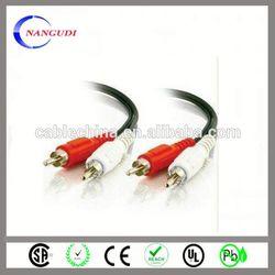 2 rca male / 2 rca male audio cable