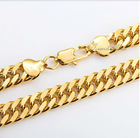 10MM CUSTOMIZE SIZE Curb 18K Gold Filled Necklace Link Chain Mens Boys Chain Necklace Jewelry