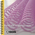 de plástico en espiral de la bobina de plástico sprial vinculante clip en la producción de colores