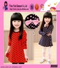 Fashion Sunshine Princess Girl Dress High Quality Polka Dot Hot Casual Kids Dress Designs