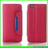 Matte flip wallet cell phone leather case for iPhone6 with hand rope design