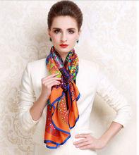 China Factory Custom Digital Print 100% Silk Scarf