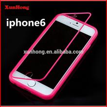 J1215 Clear Book Soft Gel TPU Transparent Flip Full Case cover hourse Case for iPhone 6