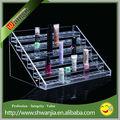 Acrílico estante de exhibición, de acrílico transparente de esmalte de uñas estante de exhibición, rotación de uñas de acrílico pulido estante de exhibición