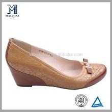 Latest hidden wedge ladies high heel shoe