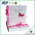 personalizados baratos al por mayor quilled de papel de tarjetas de felicitación